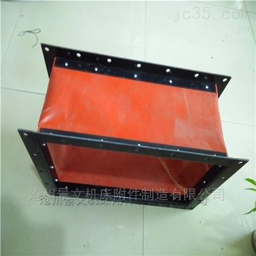 十堰红色硅胶布方形高温伸缩软连接定做价