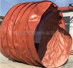 自定厂家定制大口径帆布通风软连接