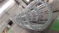 石油设备钢铝拖链 线缆金属坦克链