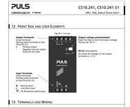 德国PULS普尔世电源模块QS10.121